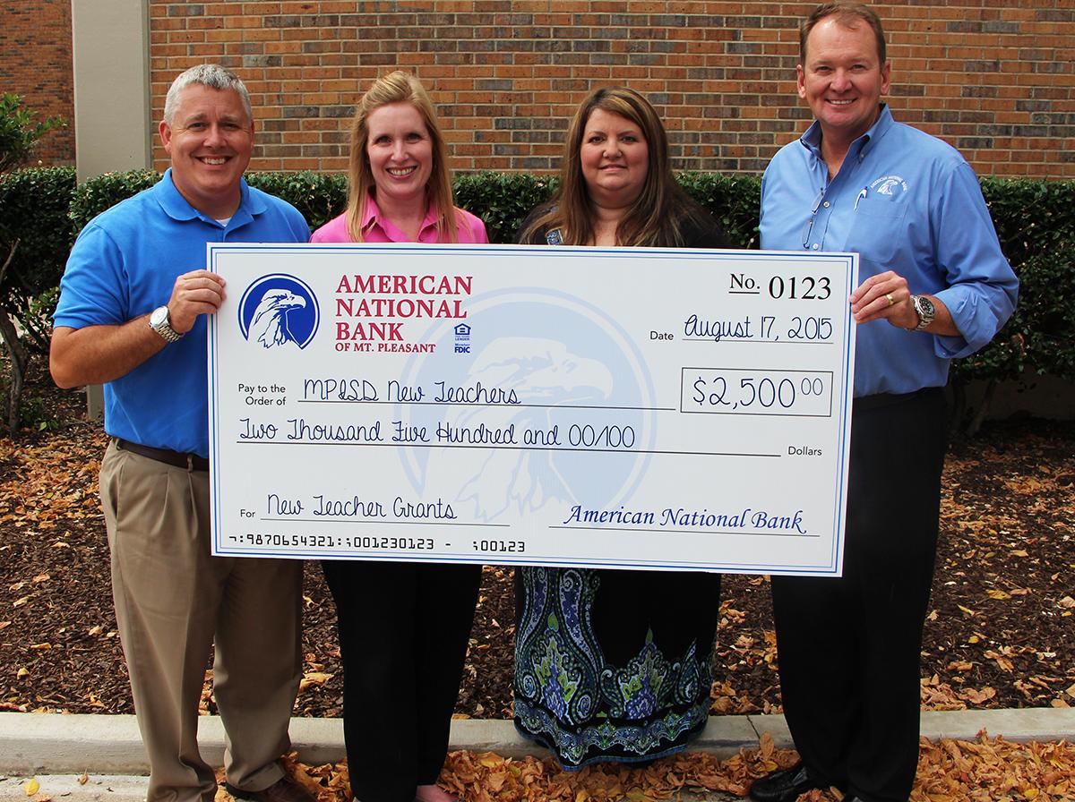 American National Bank Presents Check To MPISD Foundation