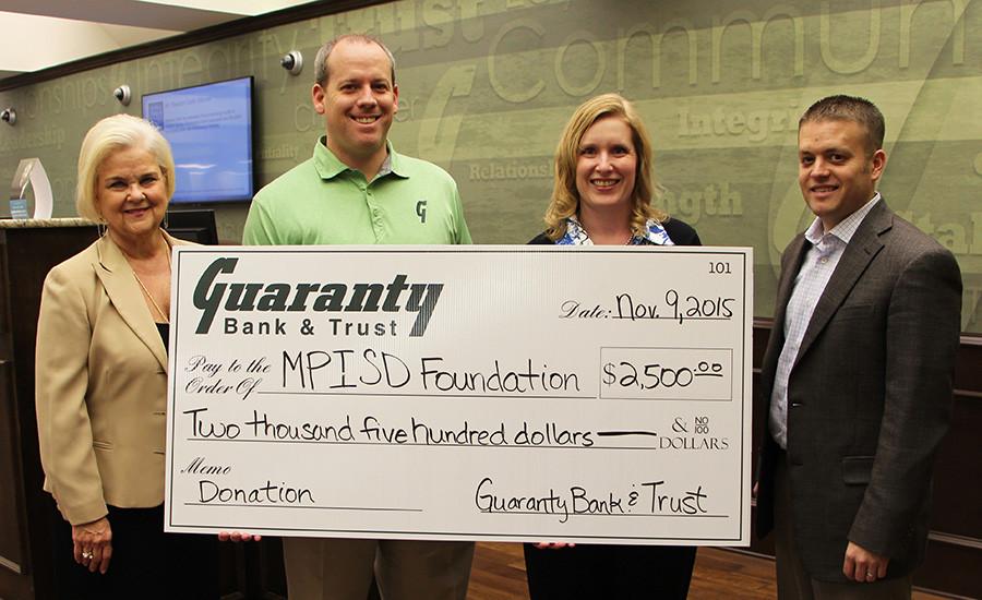 Guaranty Bank & Trust Donates To MPISD Foundation