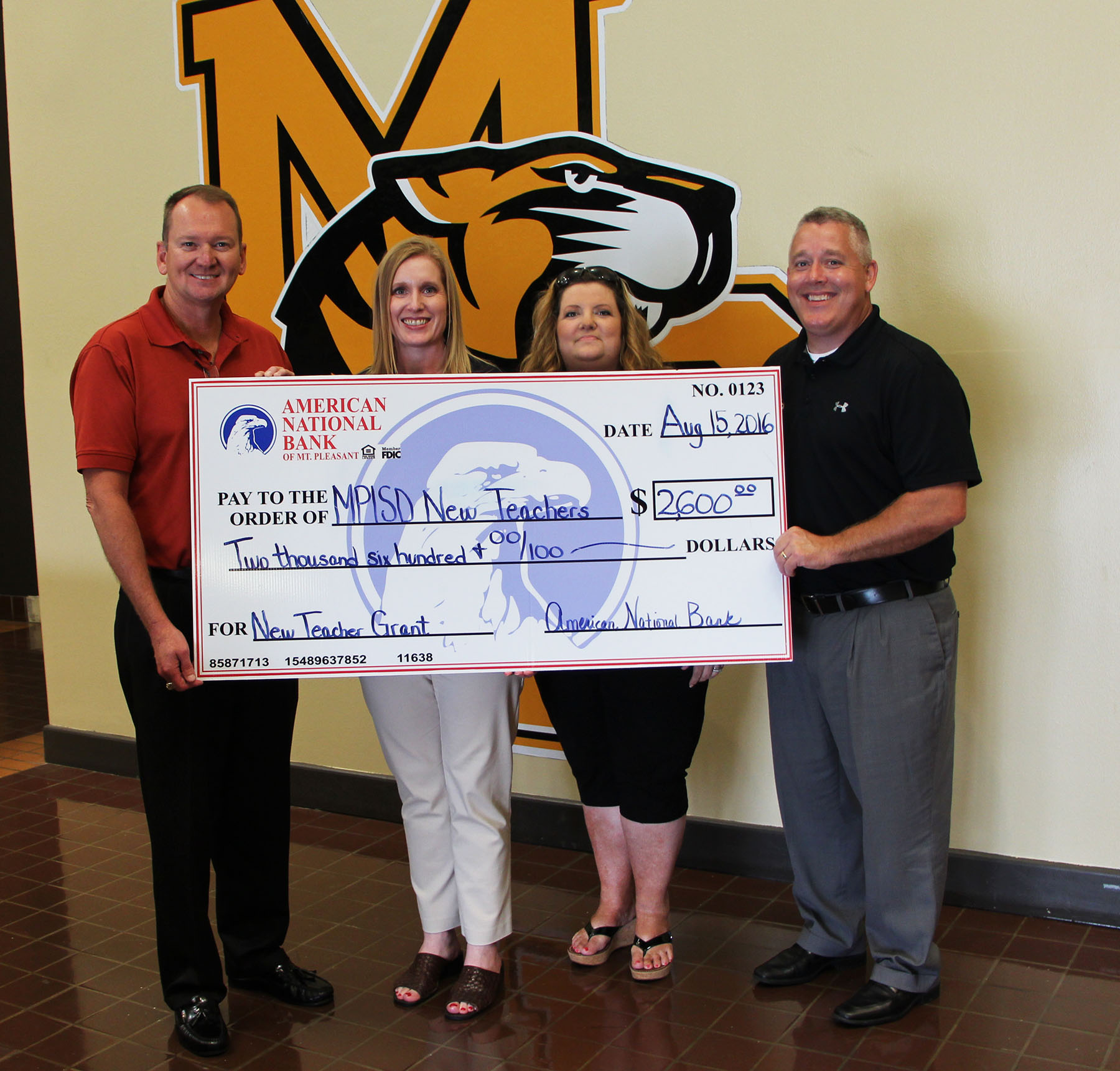 American National Bank Donates Funds To MPISD Foundation