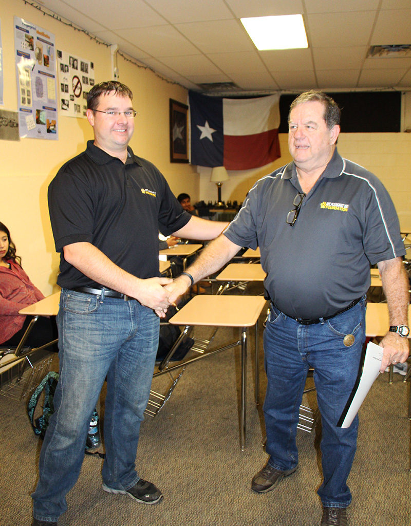 Criminal Justice Teacher Ricky Chamness For Duty Belts To Better Train Students And Provide Gear For Texas Public Service Students Association Competitions