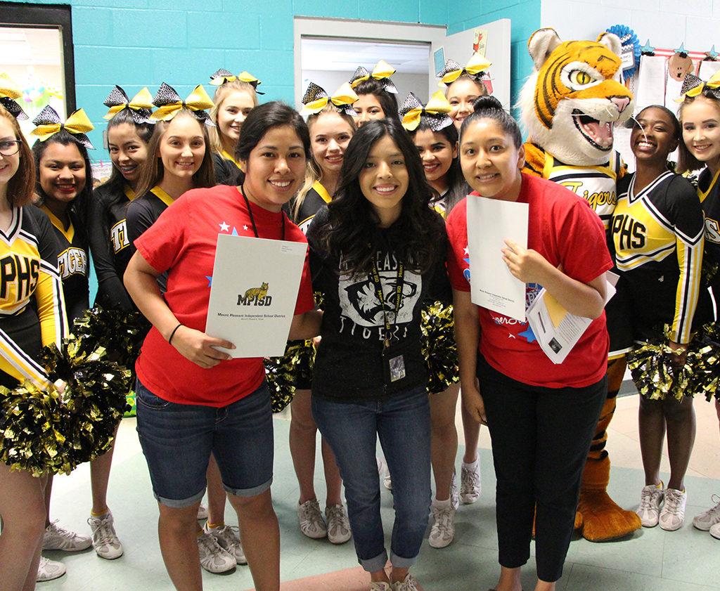 Corprew Kindergarten And First Grade Teachers Bianca Contreras, Sarai Hernandez And Esmeralda Martinez Received Grants To Attend The Kemah Writing Academy.